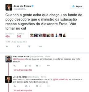 José de Abreu no twitter (Foto: Reprodução/Twitter)