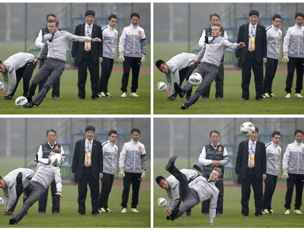David Beckham, tombo na China (Foto: Reuters)