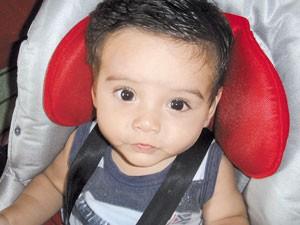 Bebê que morreu após ficar trancado em carro por 4 horas em Aparecida de Goiânia, Goiás (Foto: Reprodução/TV Anhanguera)