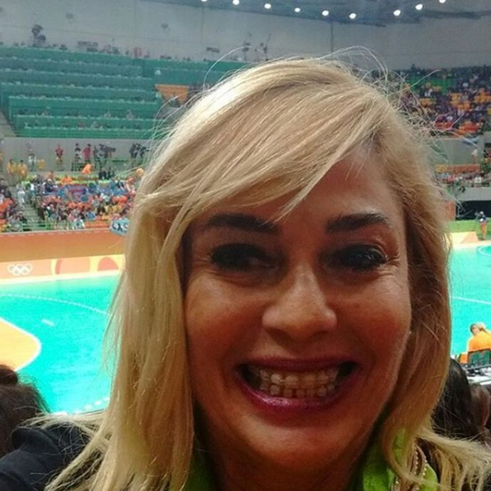Cida na Olimpíada (Foto: Reprodução Internet)