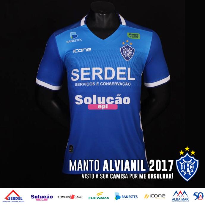 Vitória-ES - Uniforme 1 - 2017 (Foto: Divulgação/IconeSports)