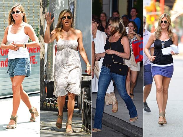 Jennifer Aniston - sandália 2013 (Foto: Getty Images)