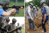 Canhão, explosivo, rifle... Pilotos fazem dia de treinamento militar nos EUA