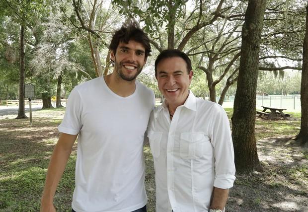 Kaká e Amaury Jr (Foto: Divulgação/Amaury Junior)