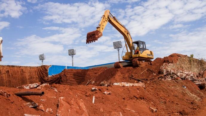 Reforma - estádio Jonas Duarte (Foto: Divulgação / Prefeitura de Anápolis)