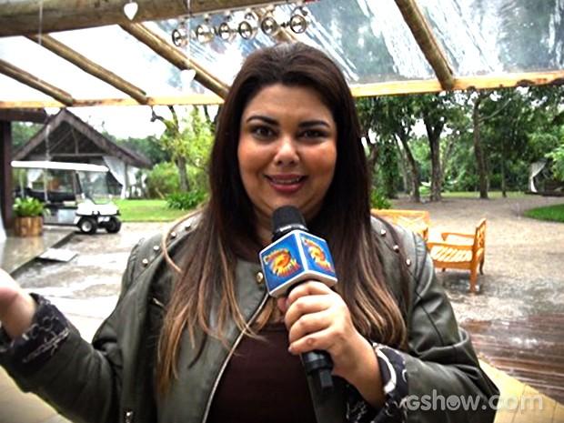Fabiana Karla solta o gogó no quadro Pede Com Jeitinho no Caldeirão (Foto: Caldeirão do Huck/TV Globo)