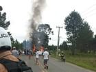 Moradores da Região de Curitiba fazem protesto e bloqueiam rodovia