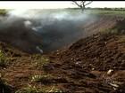 Avião do Bradesco está enterrado a 5 metros de profundidade, diz Cenipa