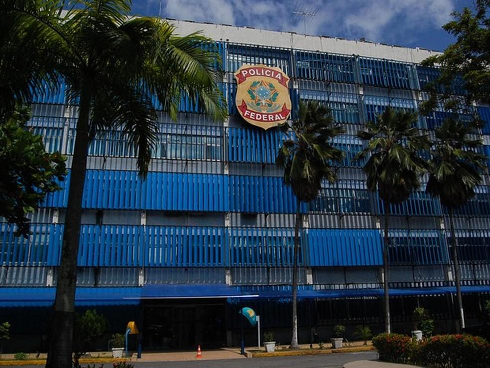 Sede da  Polícia Federal, no Cais do Apolo, no Recife (Foto: Thays Estarque/G1)