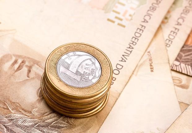dinheiro - nota - real - mercado - economia - juros - contas públicas - bc - focus - deficit - moedas - empréstimo (Foto: Thinkstock)