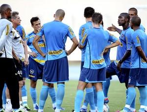 Seedorf conversa com o grupo no treino do Botafogo (Foto: Alexandre Cassiano / Ag. O Globo)