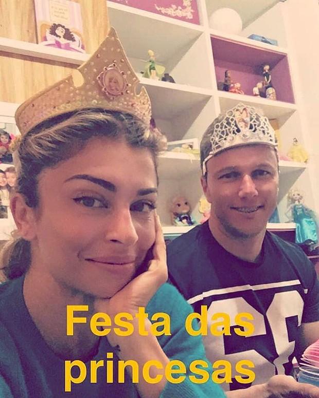 Grazi Massafera e o irmão (Foto: Instagram / Reprodução)