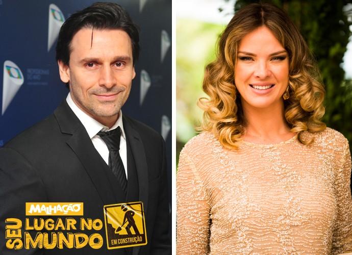 Murilo Rosa e Letícia Birkheuer serão dois professores do colégio Leal Brazil (Foto: Reinaldo Marques/João Miguel Júnior/TV Globo)