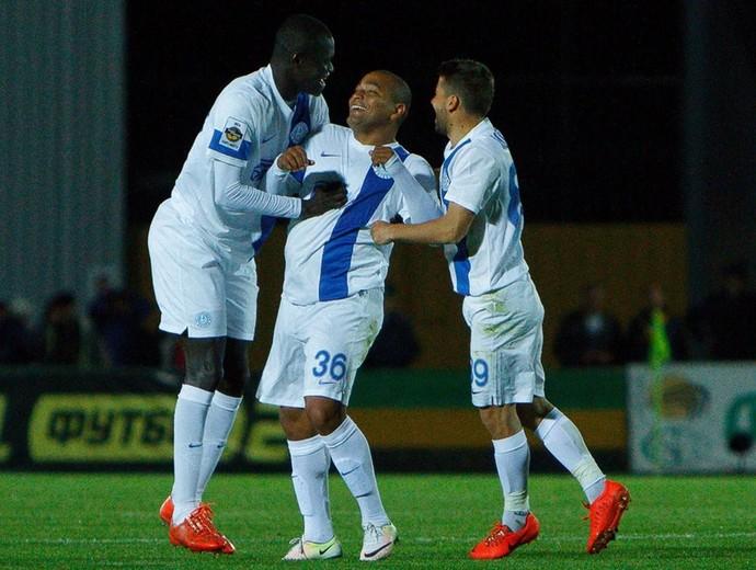 Anderson Pico comemora golaço pelo Dnipro (Foto: Reprodução Facebook Dnipro)
