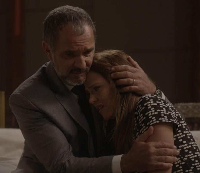 Germano afirma que amará o filho de Lili mesmo se Rafael for o pai (Foto: TV Globo)