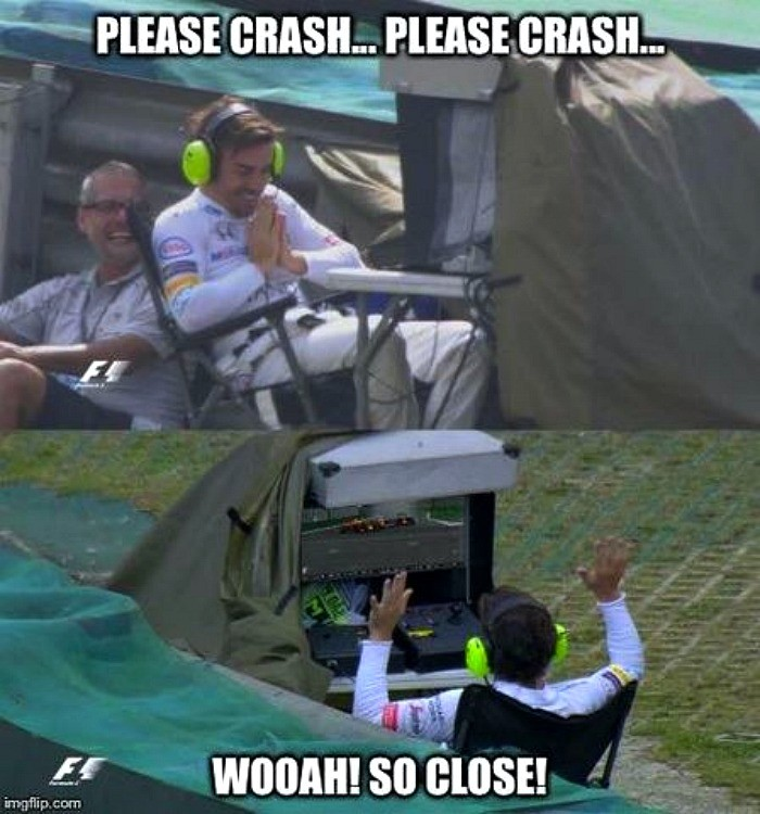 Fernando Alonso meme GP do Brasil