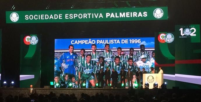 Homenagem campeões 1996 festa Palmeiras (Foto: Felipe Zito)