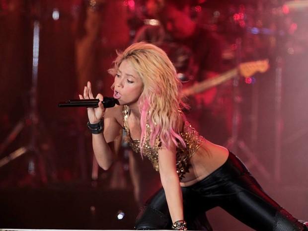Shakira usou roupa que realçava sua boa forma, no quinto dia do Rock in Rio. (Foto: Marcelo Theobald/Agência O Globo)