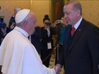 Papa recebe pela primeira vez em seis décadas um chefe de estado turco