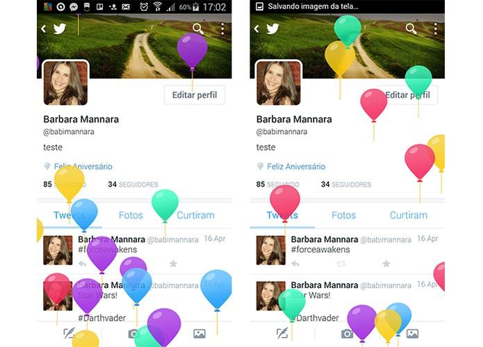Versão dos balões no aplicativo de celular do Twitter (Foto: Reprodução/Barbara Mannara)