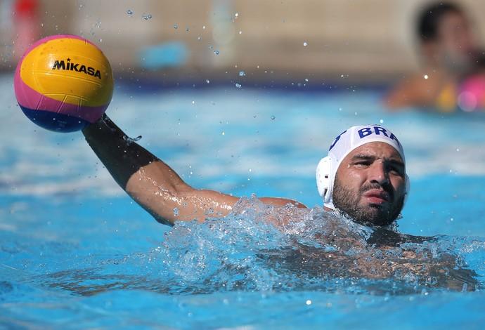 Felipe Perrone é o capitão da seleção brasileira de polo aquático (Foto: Satiro Sodré/SSPress/CBDA)