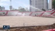 Obra de novo gramado começa no estádio dos Aflitos e Náutico se prepara para a volta