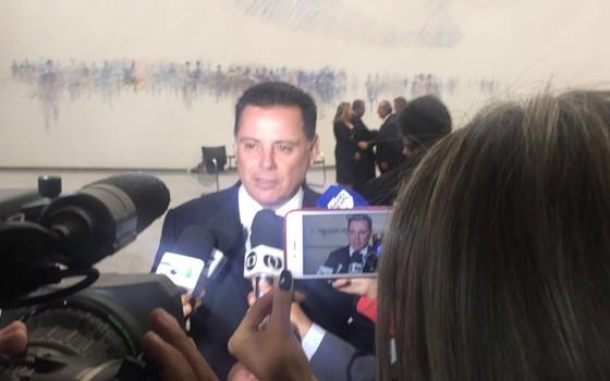 Governador de Goiás, Marconi Perillo, comparece à posse da nova presidente do STJ (Foto: Reprodução)