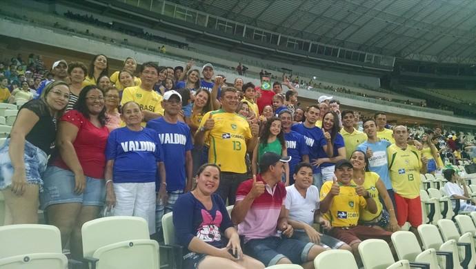 Família, Valdin, futsal, Castelão (Foto: Juscelino Filho)