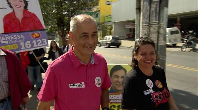 Zé Maria faz campanha em Belo Horizonte