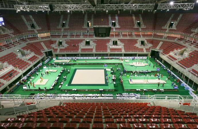 Arena Olímpica no evento-teste da ginástica (Foto: Ricardo Bufolin/CBG)