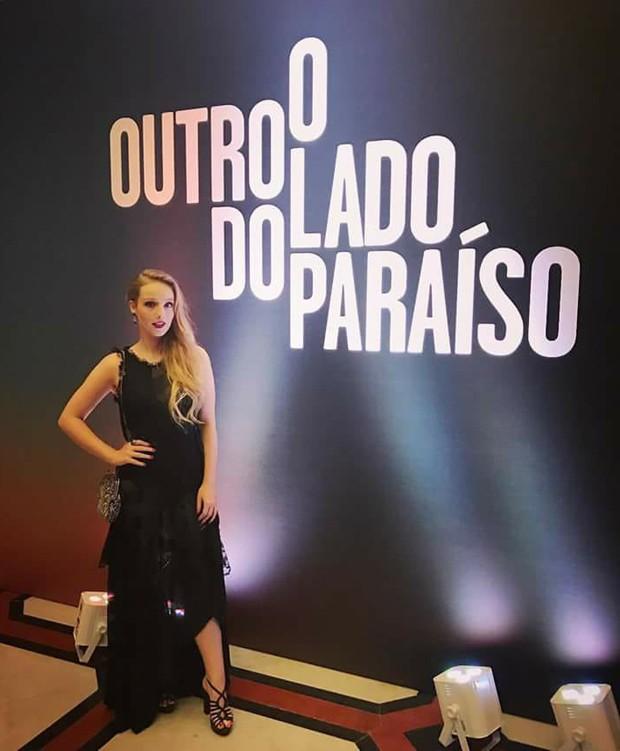 Malu Rodrigues na festa da novela O Outro Lado do Paraíso (Foto: Reprodução/Facebook)