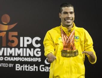Daniel Dias e as suas sete medalhas de ouro em Glasgow (Foto: CPB/MPIX)