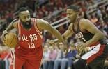 Harden anota 33 pontos, mas Rockets são derrotados pelos Blazers  (Thomas B. Shea / USA Today / Reuters)