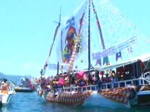 Procissão Marítima de Angra dos Reis 2013 (Foto: Reprodução/TV Rio Sul)