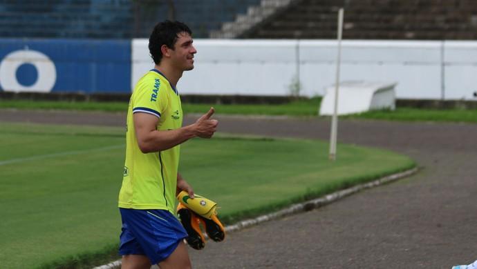 Giuliano em treino do Grêmio (Foto: Diego Guichard)