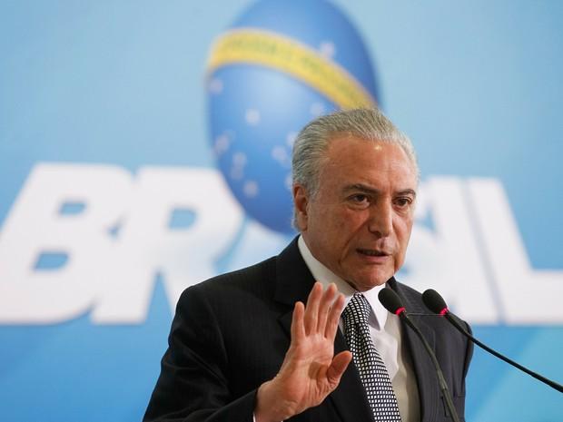 Temer em Cerimônia de Lançamento do Programa de Revitalização da Indústria Mineral Brasileira