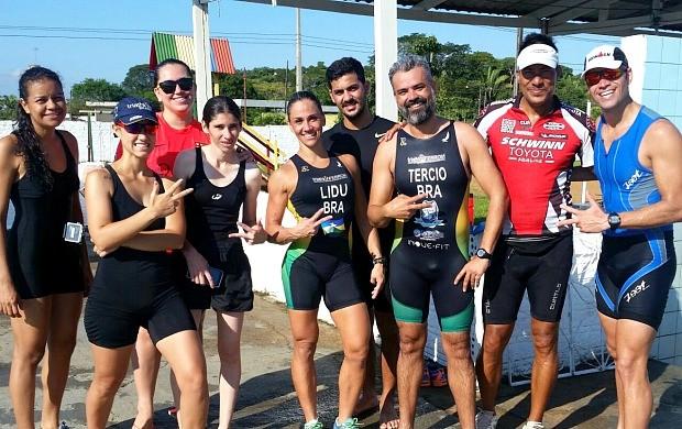 Karina Quadros faz simulada há 3 semanas da prova de triathlon (Foto: Karina Quadros/Arquivo Pessoal)