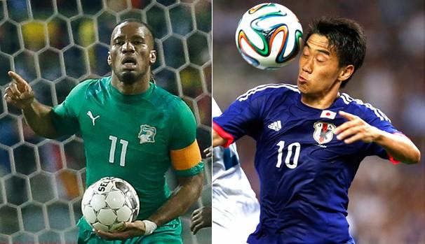 Globo transmite partida entre Costa do Marfim x Japão neste sábado, dia 14 (Foto: AP / Reuters )