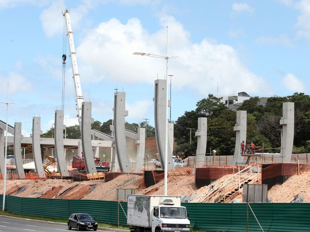 Obras estão 24% concluídas, segundo o governo estadual (Foto:  Elói Corrêa/GOVBA)