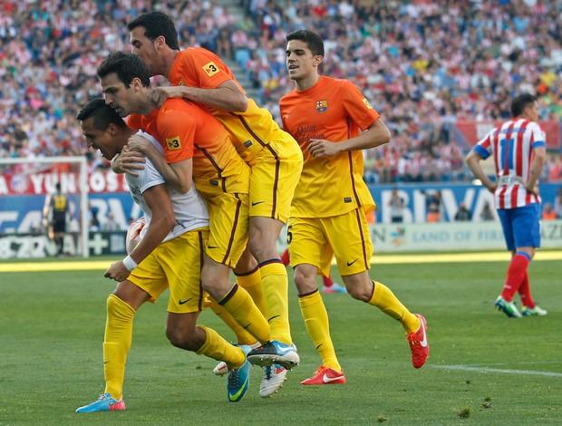 alex sanchez barcelona x atletico madrid (Foto: AP)