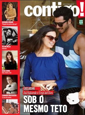 Isis Valverde e o namorado, Uriel del Toro, em capa de revista (Foto: Contigo!/ Reprodução)