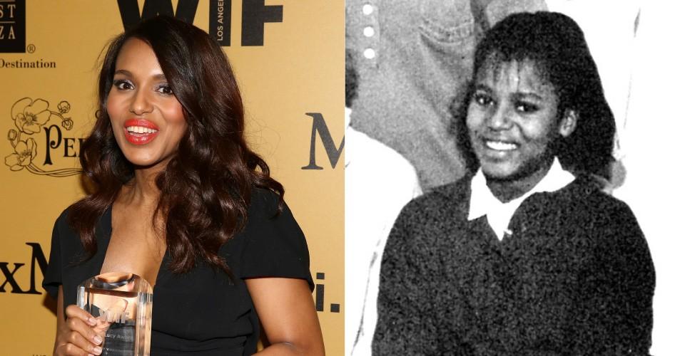 A garota de sorriso alegre da Spence School, em Nova York, se tornou a indicada ao Emmy de Melhor Atriz em Série Dramática por 'Scandal'.  (Foto: Getty Images/Arquivo pessoal)