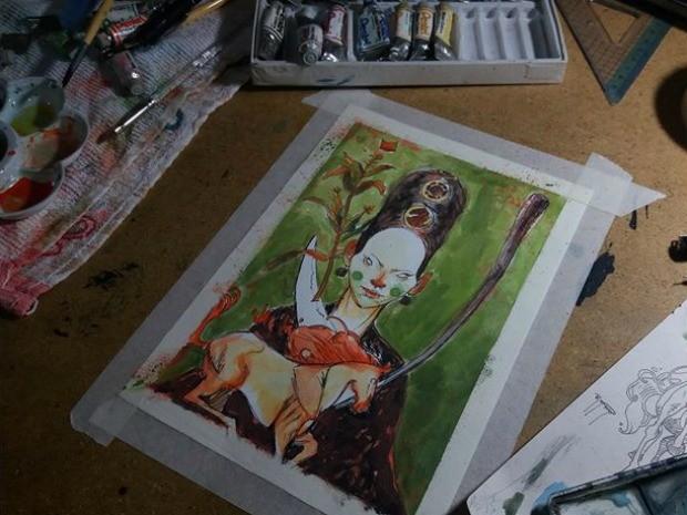 aquarela, arte, macapá, amapá (Foto: Igum D'jorge/Arquivo Pessoal)