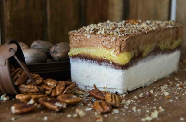 Torta gelada de nozes (Foto: Divulgação/Feito de Sorvete)