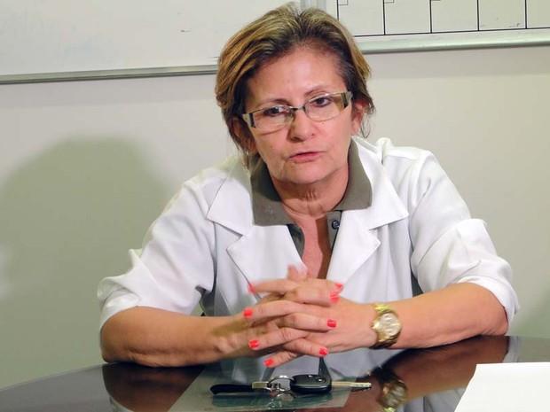 Maria de Fátima Pinheiro, diretora do Hospital Walfredo Gurgel (Foto: Ricardo Araújo/G1)