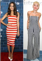 Kirsten Dunst, Miley Cyrus e mais famosas apostam nas listras