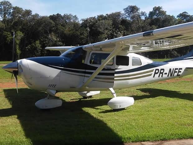 Avião Cessna foi roubado de aeroclube em Sinop, Mato Grosso. (Foto: Arquivo Pessoal)