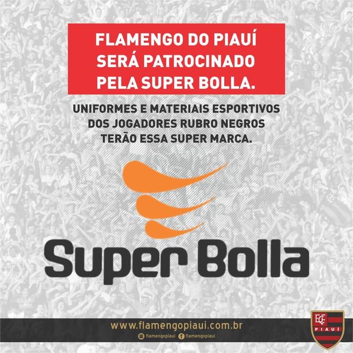 Anúncio uniforme Flamengo-PI (Foto: Reprodução/EC Flamengo-PI)