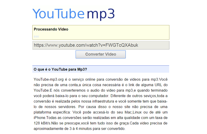 conversor de audio youtube em mp3