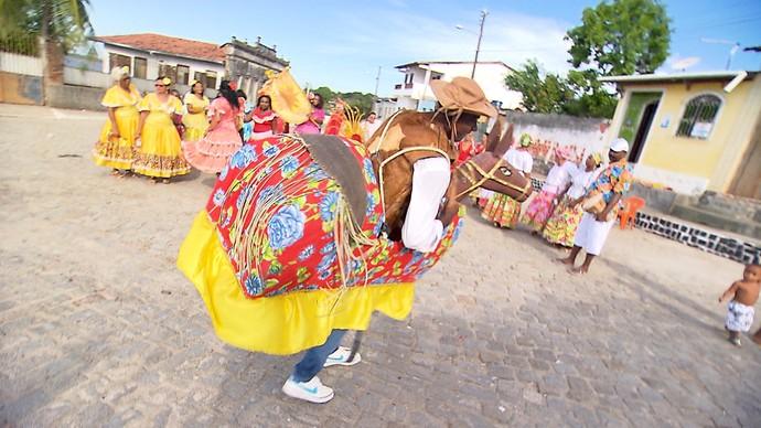 A tradição dos Ternos de Reis em Jaguaripe (Foto: TV Bahia)
